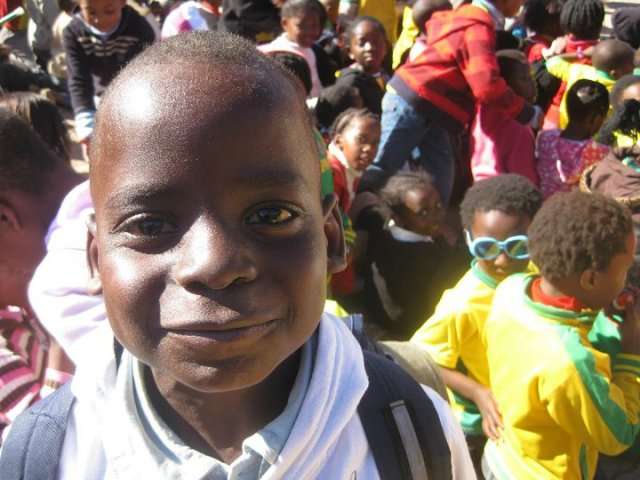 A school kid from Mohklakano wonders what the fuss is all about…
