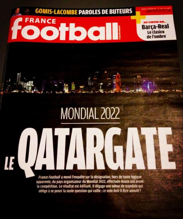 "France Football's ""Le QatarGate"" cover. Alors, etc."