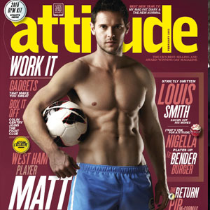 The front cover of January's Attitude magazine. Work it!
