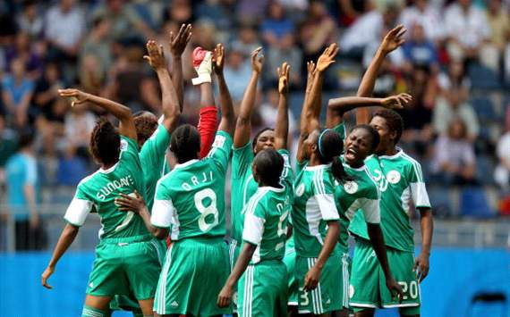 The Nigerian women's team: officially not gay anymore.