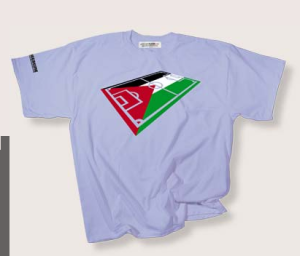 Palestine shirt from PhilosophyFootball.com