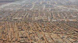 "Za'atari refugee camp. Jordan's fourth-largest ""city"". Pic borrowed from AP."