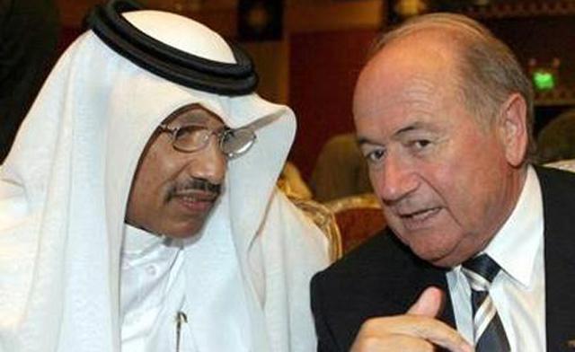 Bin Hammam and Blatter.