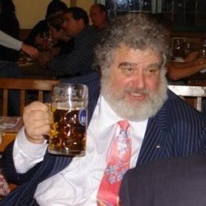 Chuck Blazer enjoys a beer.