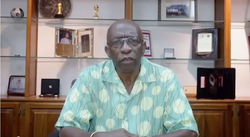 Jack Warner addresses the world.