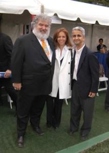 Chuck Blazer (L) with Sunil Gulati (R).