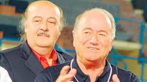 The guy in front is Sepp Blatter. Behind him? Peter Hargitay, a beneficiary of fool's gold.