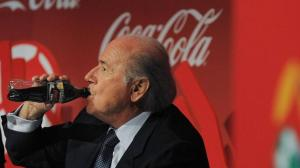 Suck on that. Coca Cola and other sponsors have called on Sepp Blatter to quit now